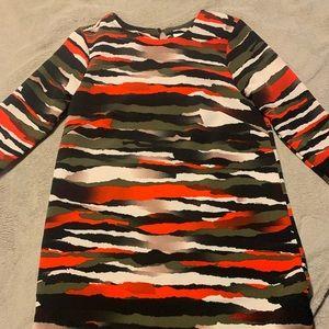 H&M Camouflage Shift Dress
